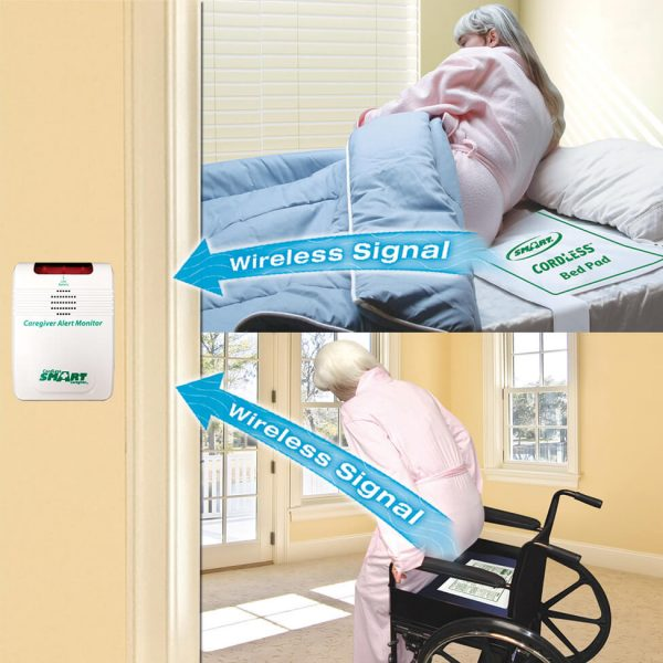 Cordless Alarm with Bed & Chair Sensor Pads Bed Exit Alarm Systems