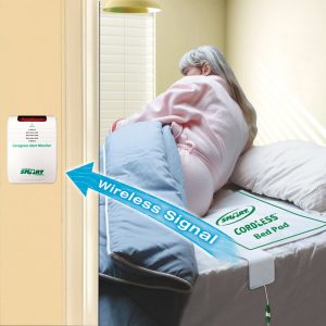 Quiet and Cordless Wide Bed Exit Alarm System Bed Exit Alarm Systems