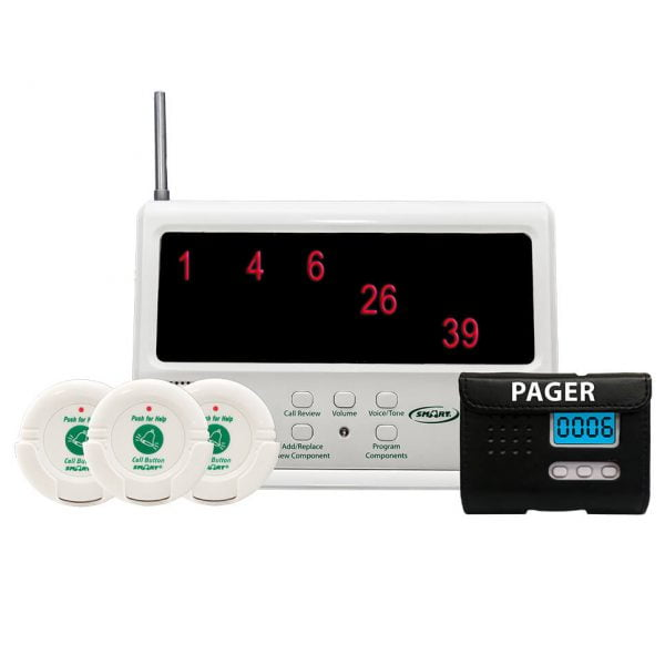 Starter system – comes with 3 pre-programmed buttons – Add to for a more robust monitoring system for your facility. Caregiver Call Systems