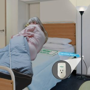 Light Outlet with Bed Pad Bed Exit Alarm Systems