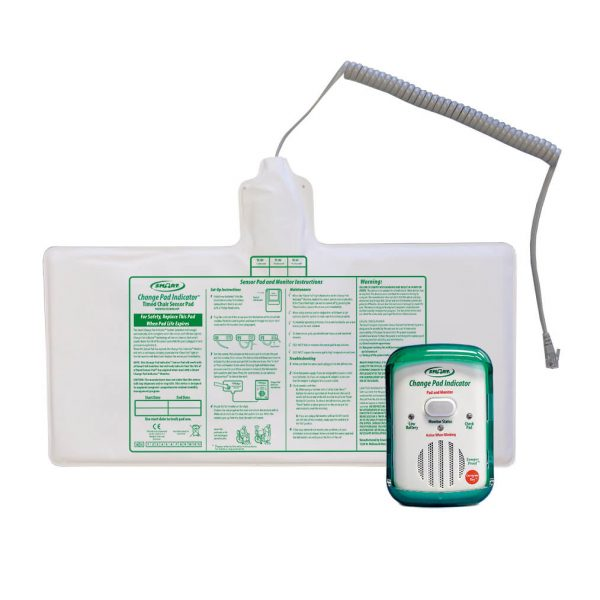 Chair Pad and Exit Monitor that lets you know when the pad needs to be changed Discount Alarms! Comes with Same Smart Caregiver Warranty