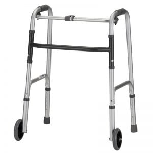 One Button Folding Walker with 5″ Wheels Daily Aids