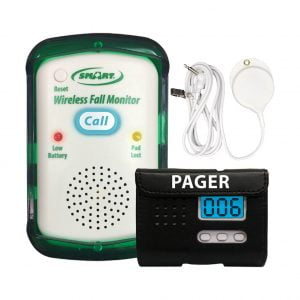 Monitor with Easy-to-Push Call Button to Pager Bed Exit Alarm Systems