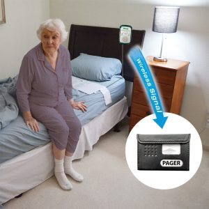 Wireless Economy Monitor with 10in X 30in Bed Pressure Pad with Pager Bed Exit Alarm Systems